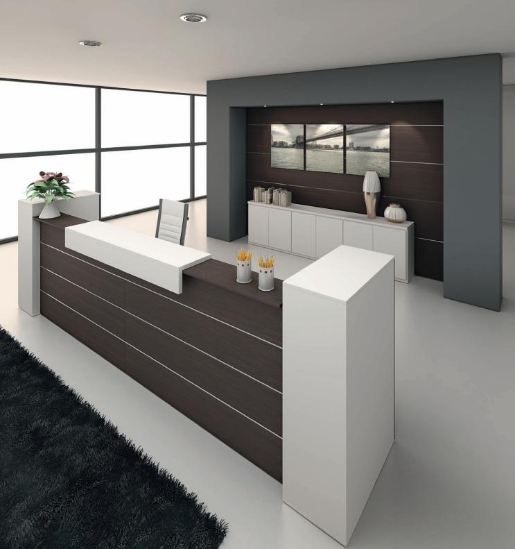 Reception azienda,reception con mobili