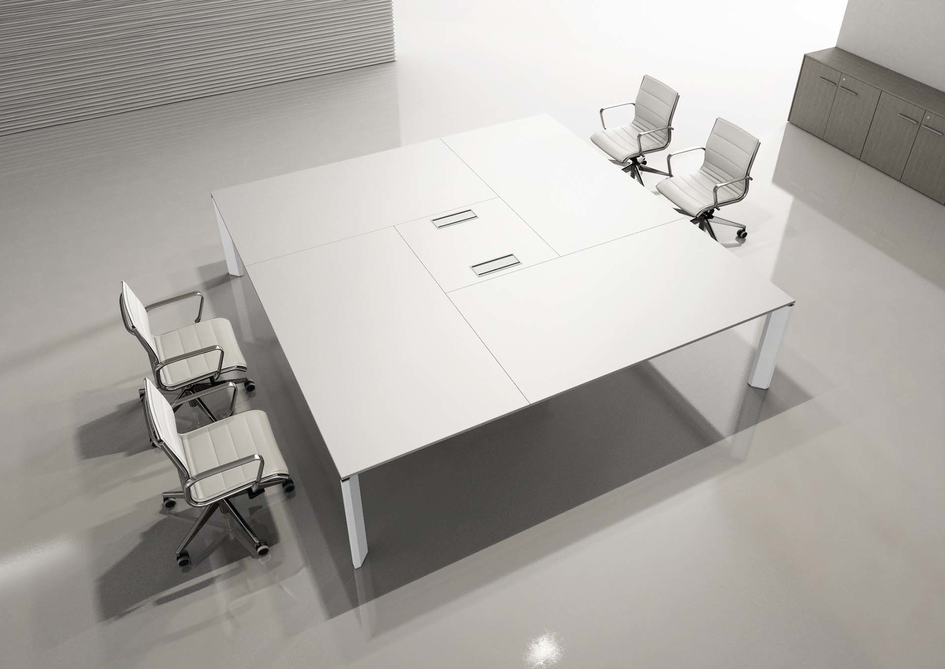Tavolo per riunioni a settori,tavolo quadrato con sportelli