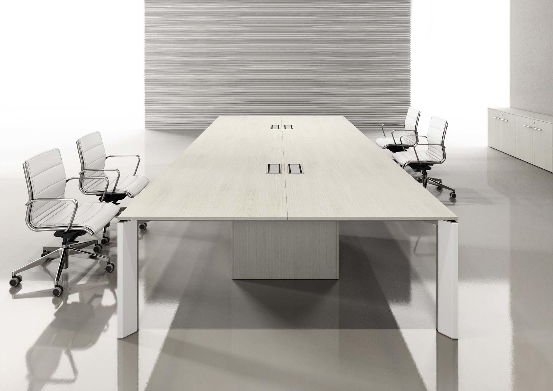 Tavolo per riunioni rettangolare con sportelli
