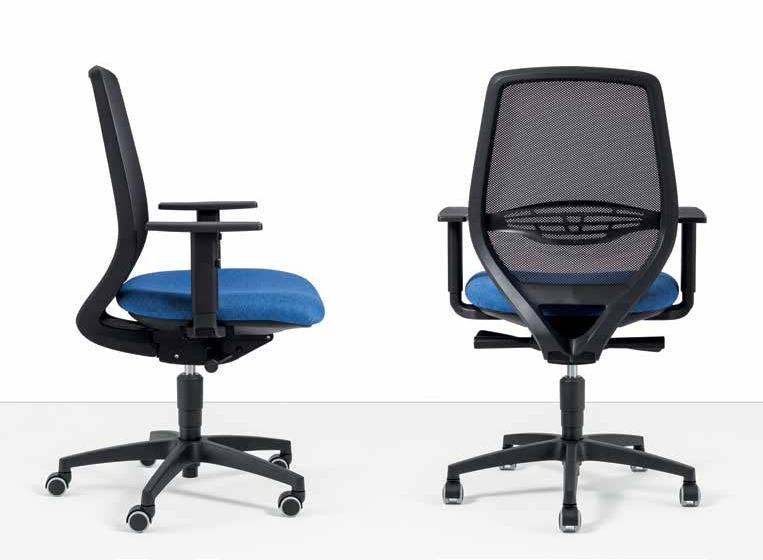 sedia operativa con schienale a rete