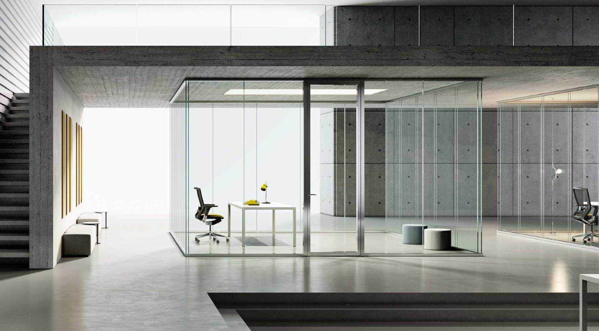 parete monolitica con vetro doppio