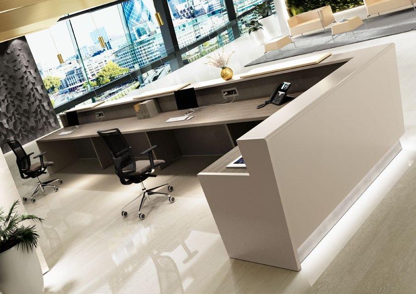 reception laccata di design
