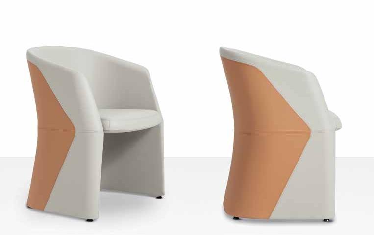 sedia per attesa bicolore